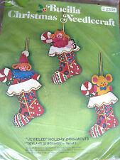 Christmas Holiday Craft Bucilla Felt Applique ORNAMENT KIT,TOYLAND STOCKING,2338