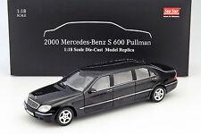 MERCEDES-BENZ pullman classe s année-modèle 2000 Noir 1:18 sunstar