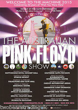 Event Promo Flyer: The Australian Pink Floyd Show - Welcome To The Machine 2015
