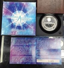 "2009 PERTH MINT TREASURES OF AUSTRALIA ""DIAMONDS"" 1oz .999 SILVER 7,500-MINTAGE"