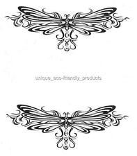 LOT 2 TRIBAL DRAGONFLIES TRAMP STAMP LOWER BACK Temporary Tattoo NEW!