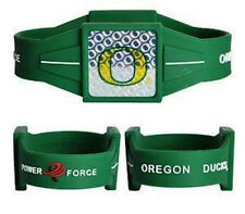 "NEW! Oregon Ducks Ionic Bracelet Balance 7.5"" Power Force Hologram Dual Sport"