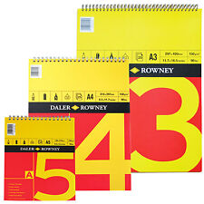A4 DALER ROWNEY SERIES A SPIRAL BOUND 150gm CARTRIDGE PAPER ARTIST SKETCH PAD