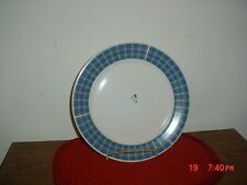 "2-PC ARITA NEW TRADITIONS ""PICNIC"" 12 1/2"" DINNER PLATES/WHITE-BLUE/CLEARANCE!"