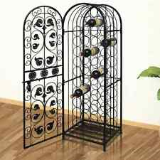 Metal Wine Cabinet Rack Wine Stand for 45 Bottles Elegant Chic Wine Lover Gift