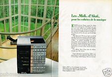 Publicité advertising 1984 (2 pages) Chaine Hi-Fi Akai