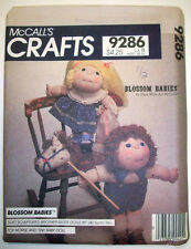 "Blossom Babies Brother sister 16"" rag dolls with clothes pattern 9286"