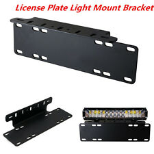 1pc Front Bumper License Plate Mount Bracket Holder For LED Light Bar /Work Lamp