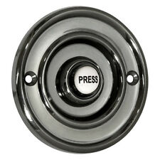 "Wired Flush Fitting Door Bell Push, 76mm (3""), Antique Black, Model 2207P2BK"