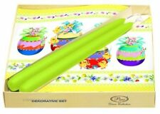 EASTER Table Decoration Set LOVELY EGGS Green 20 Paper Napkins 2 Candles
