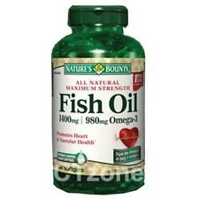 130 Nature's Bounty Fish Oil 1400 mg Omega 3 Heart Vascular Health 130 Softgels