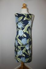 TOMMY BAHAMA NWT Blue Floral Silk Sleeveless Shealth Cocktail Dress 2  XS $132