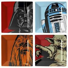Star Wars Official Melamine Plate Set - DV, R2-D2, Chewie and Yoda