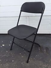 (10) Used Plastic Folding Chairs Commercial Black Stackable Party Chair Seating