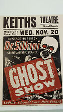 Vintage Magic Show Spookhouse Horror Haunted House Carnival Circus  POSTER