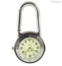 Metal De Plata Brillante Mosquetón Llavero Reloj ideal para los médicos, enfermeras paramédicos Chefs