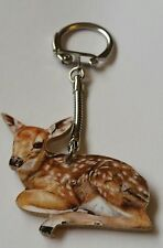 Wood Fawn keyring key ring, keychain Hand made in UK New