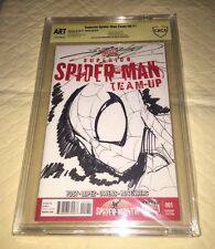 SHANE DAVIS Original Sketch Blank Cover SPIDERMAN Art CBCS ORIGINAL ART