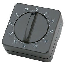 Timer Alarm Bell For Hairdressing Cooking 60 Minute Wind Up Clockwise SibelBlack