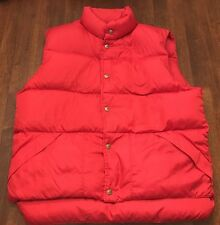 VINTAGE LL BEAN PUFFER VEST WINTER FALL JACKET MAROON MENS M/L