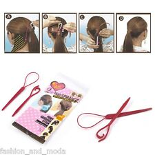 2-piece set FANCY TOPSY TAIL HAIR TWISTER HAIRDRESSER'S AID SLING LOOP DREHER