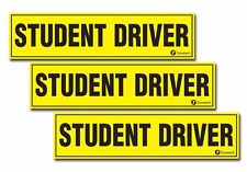 Zone Tech 3x Magnetic Student Driver Car Vehicle Magnet Signs