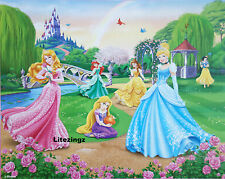 Giant Wall mural Wallpaper Disney Princess Cinderella, Ariel, Snow White Belle