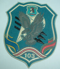 RUSSIAN PATCHES-103rd GUARDS AIRBORNE LIGHTNING STRIKES DIAGONAL ON LIGHT BLUE