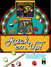 RACK 'EM UP Original PROMO Pinball Flyer GOTTLIEB '83 Brochure Advertising Slick