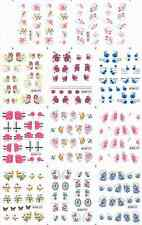 12 Design Flower Decals Water Transfer Nail Sticker Set Nail Art NS180