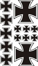 13 x Eisernes Kreuz Aufkleber Sticker IRON CROSS Kreutz  Auto Tuning TOP KULT .