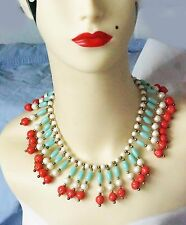Gorgeous Vintage Miriam Haskell Egyptian Revival Necklace & Earrings Set