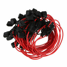 New 10pcs Red In-Line Car Mini Blade Fuse Holder Waterproof 18AWG 12V/24V/32V DC
