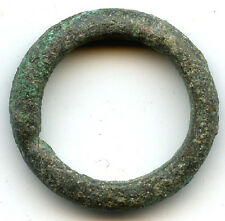 Authentic bronze (22 mm, 5.26 g.) Celtic ring money, 800-500 Bc, Danube Area