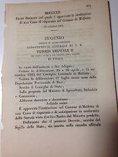 Regio Decreto 22/09/1866 Instituzione di una Cassa di Risparmio a Molfetta -765