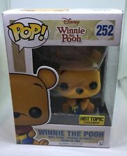 Hot Topic Exclusive Winnie the Pooh Flocked  Funko Pop Vinyl Figure Collectible