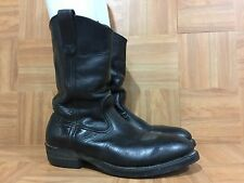Vintage�� Red Wing Black Leather Steel Toe Work Motorcycle Boots Sz 8 D 696 LE