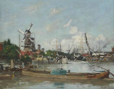 Eugene Boudin Rotterdam Port And Moulins Print 11 x 14   #4788