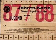 Ticket BL 87/88 Jahreskarte Karlsruher SC, Dauerkarte Wildparkstadion