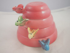 VINTAGE PINK MENSCHIK GOLDMAN STACKING 'BEEHIVE' MEASURING CUPS