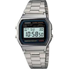 NEW CASIO RETRO A158 Classic MENS Watch A158WA-1  Genuine