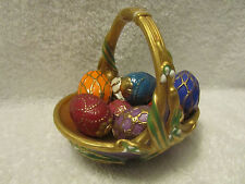 The Franklin Mint House of Faberge Spring Purple Basket w/ 9 Easter Eggs