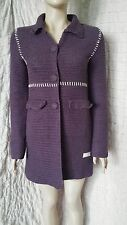 Odd Molly crochet knit Grandma's coat in purple size 1, new