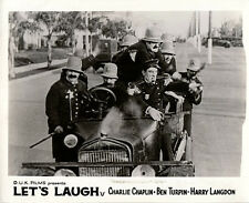 LET'S LAUGH ORIGINAL BRITISH LOBBY CARD THE KEYSTONE COPS CAR COMEDY CLASSIC