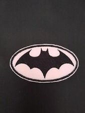 Batman Bat woman / Girl Pink Embroidered Patch Badge Iron on or sew