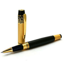 HERO 901 Medium Nib Fountain Roller Ball Pen Luxury Black & Gold Stainless Steel