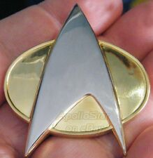 Star Trek TNG Full-Sized Metal Communicator Uniform Pin ~ Gold & Silver Tone