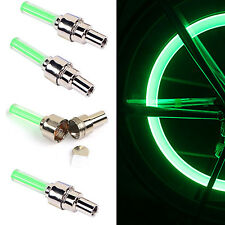 4pcs LED Valve Cap Bicycle Cycling Bike Motor Wheel Tire Light Spoke Lamp Green