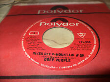"DEEP PURPLE ""RIVER DEEP MOUNTAIN HIGH"" 7"" CANADA RARE"