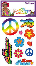 Flower power Hippie tatouages NEUF-Coiffure Maquillage Carnaval
